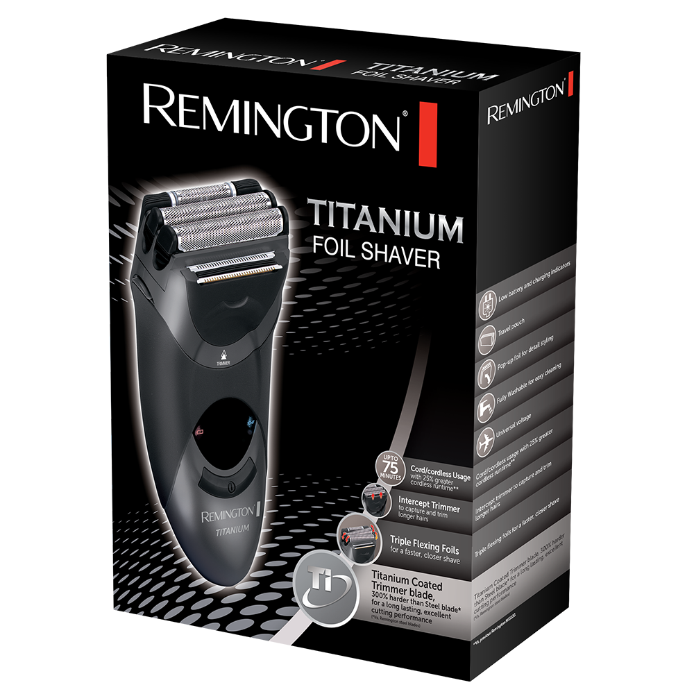 titanium men 39 s electric foil shaver ms5120 remington uk. Black Bedroom Furniture Sets. Home Design Ideas