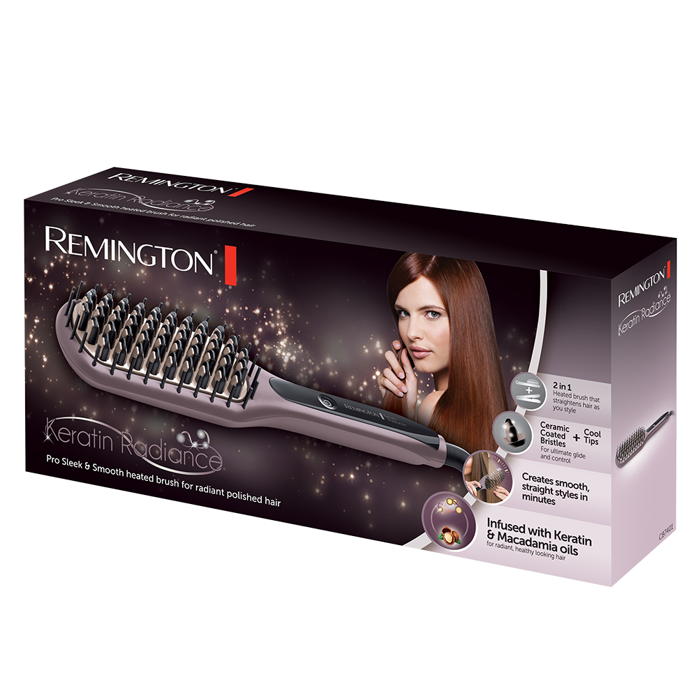 Keratin Radiance Sleek Amp Smooth Brush Cb7401 Remington Uk